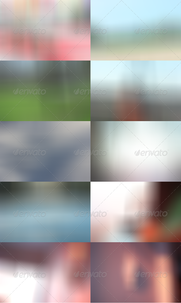 Blurred HD Backgrounds Pack 1 - Abstract Backgrounds