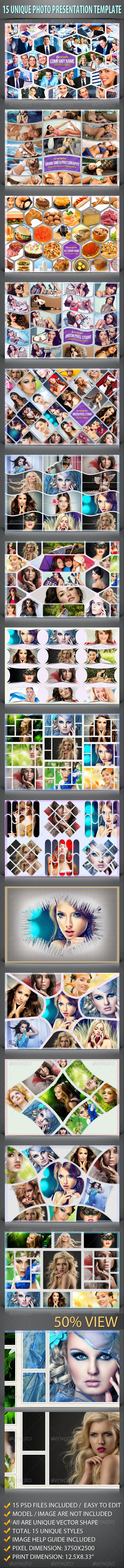 15 Unique Photo Presentation Template - Photo Templates Graphics