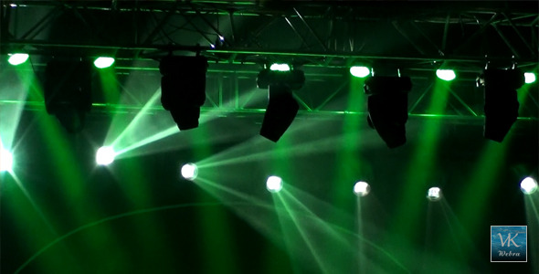 Stage Light 9 Green Amp White By Webra Videohive