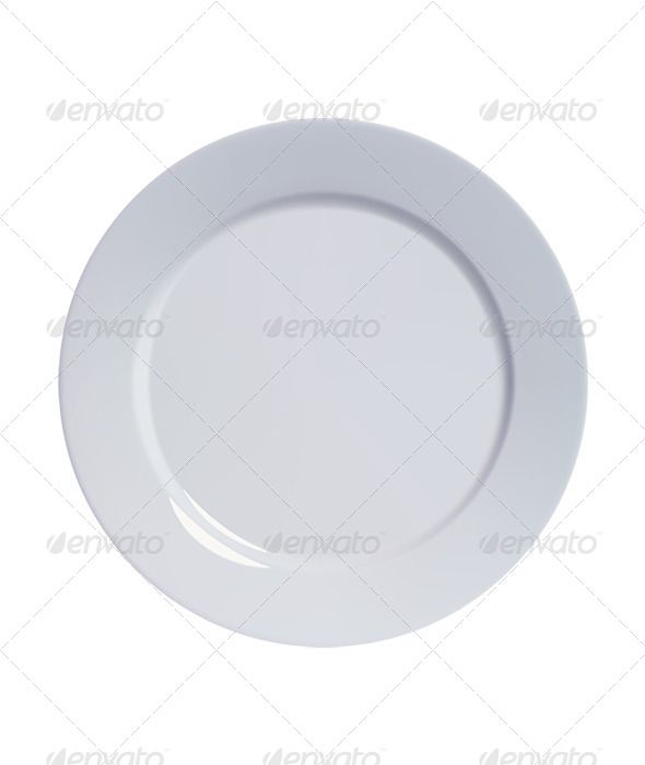 Empty Plate - Man-made Objects Objects