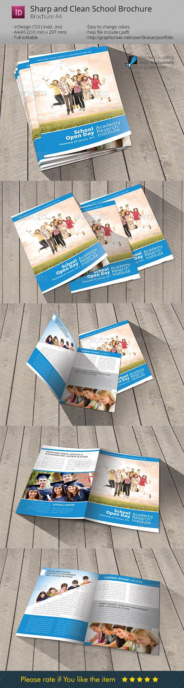 School Welcome Brochure Template By Braxas GraphicRiver - Welcome brochure template