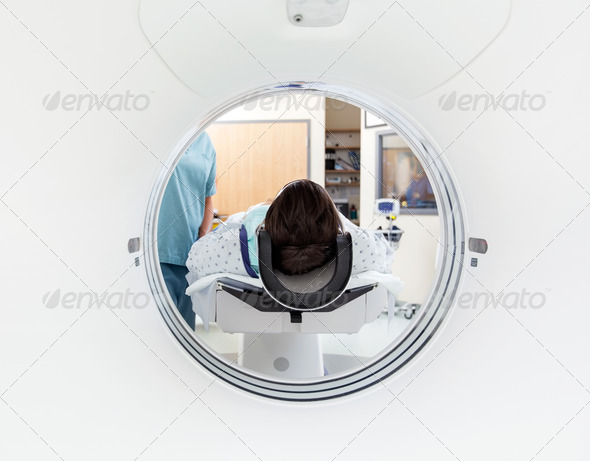 Patient Undergoing CT Scan Test - Stock Photo - Images