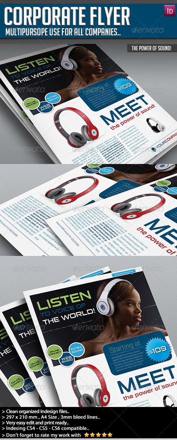Corporate Flyer - The Power of Sound! - Commerce Flyers