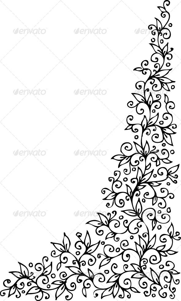 Floral vignette CCCIV - Decorative Symbols Decorative