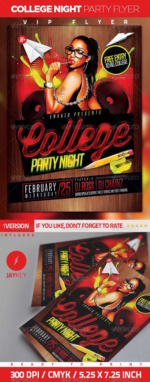 College Night Party Flyer - Clubs & Parties Events