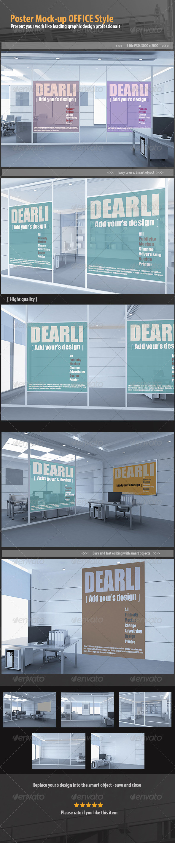 Poster Mock-up OFFICE Style - Posters Print