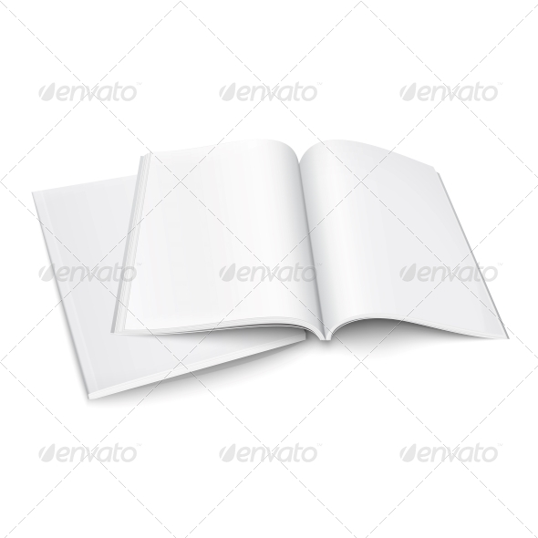Couple of Blank Magazines Template. - Man-made Objects Objects