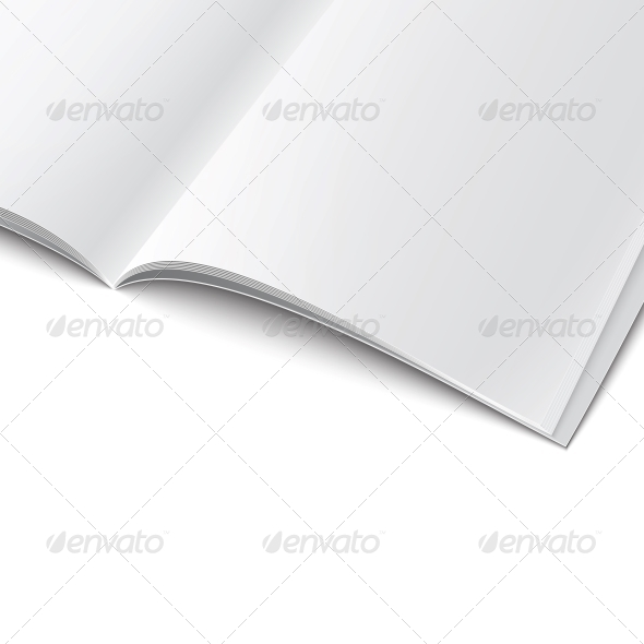 Close-Up of Blank Magazine Template. - Man-made Objects Objects