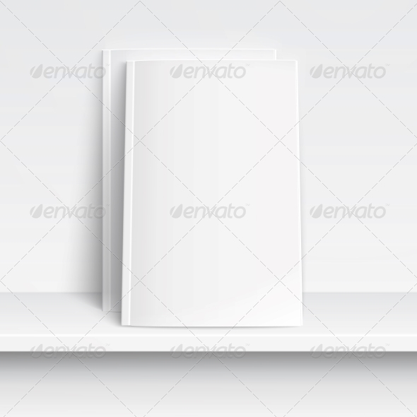 Two Blank White Magazines - Man-made Objects Objects