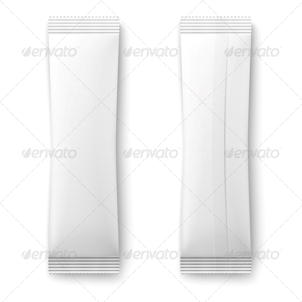 White Paper Sachet Bag. - Man-made Objects Objects