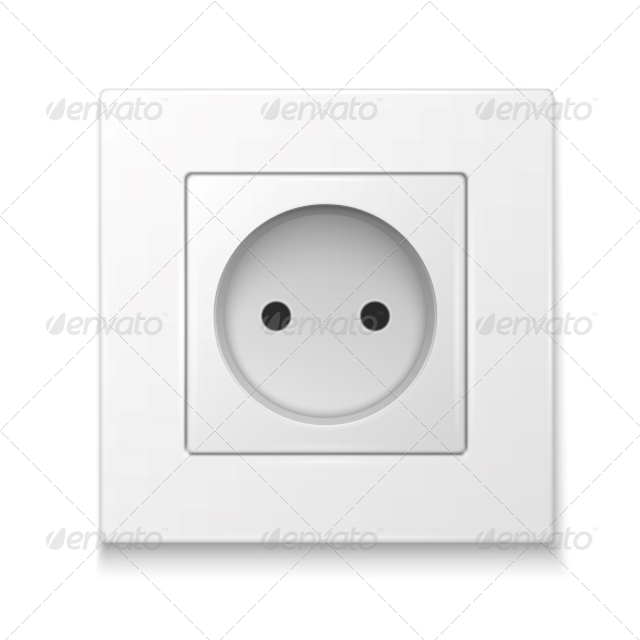 White Socket Outlet. - Man-made Objects Objects