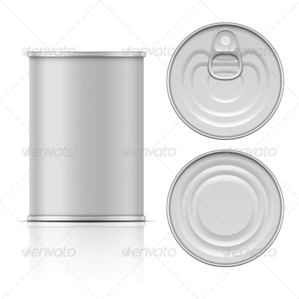 Tin Can with Ring Pull - Man-made Objects Objects