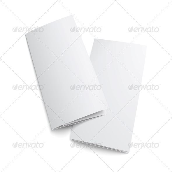 Couple of Blank Trifold Paper Brochure. - Man-made Objects Objects
