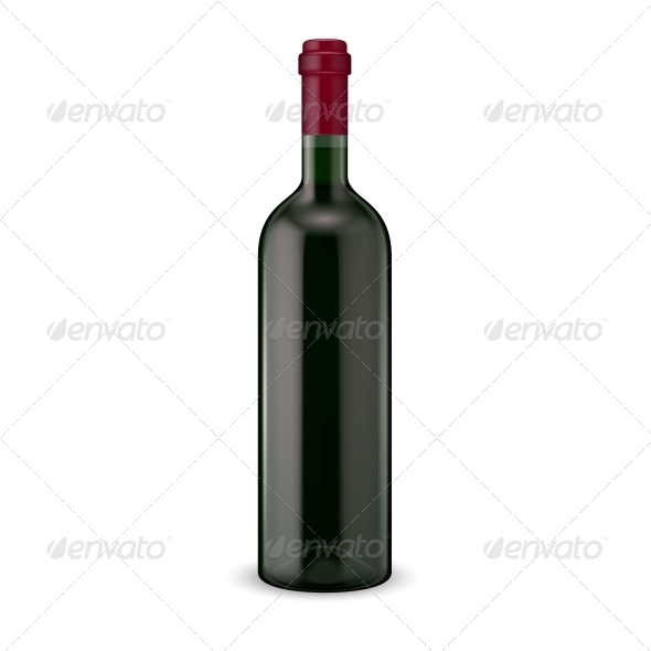 Wine Bottle - Food Objects