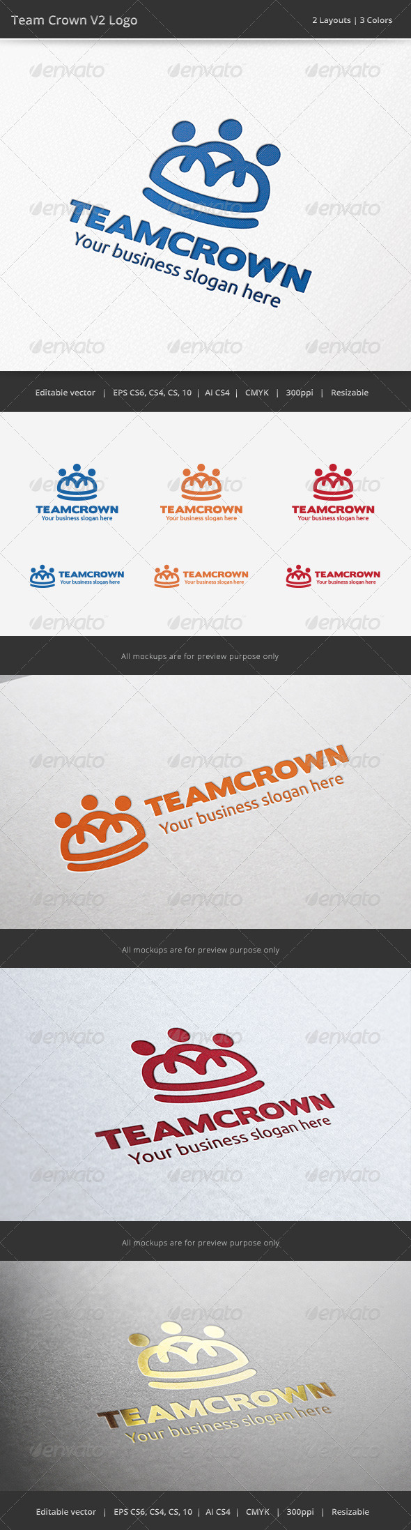 Team Crown V2 Logo - Humans Logo Templates