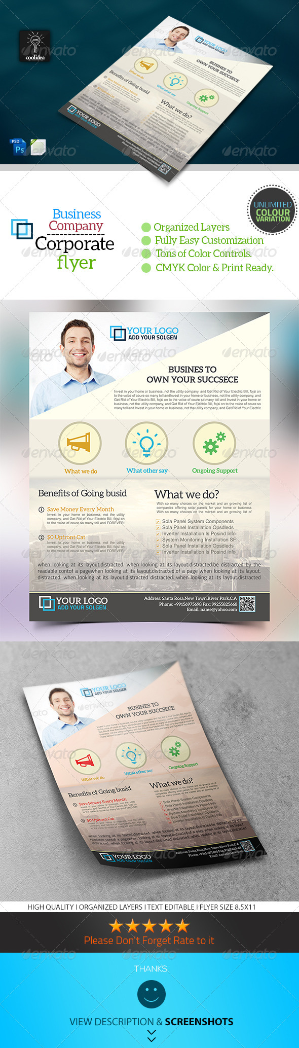 Corporate Flyer Template Business Vol01 - Corporate Flyers