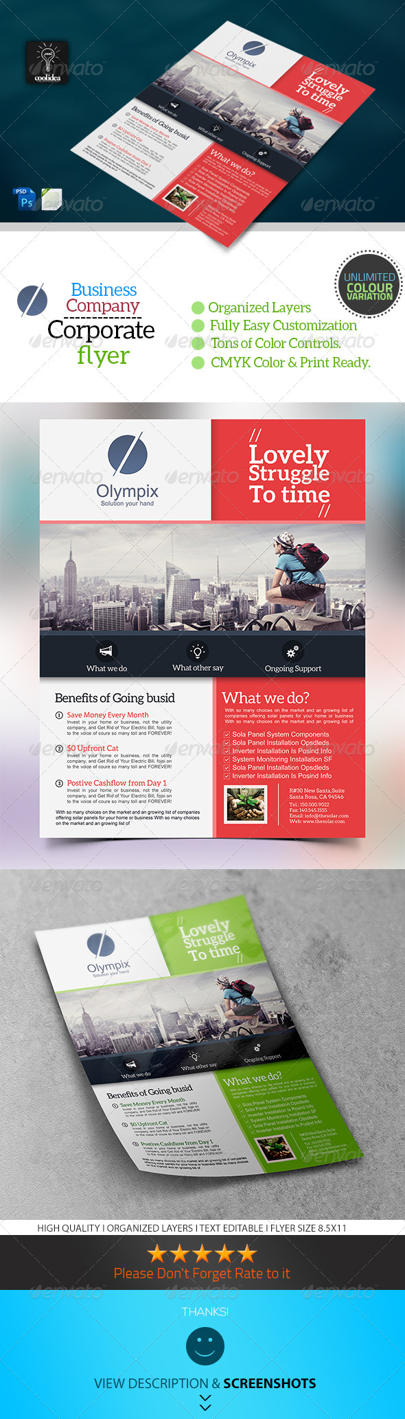 Corporate Flyer Template Business Vol02 - Corporate Flyers