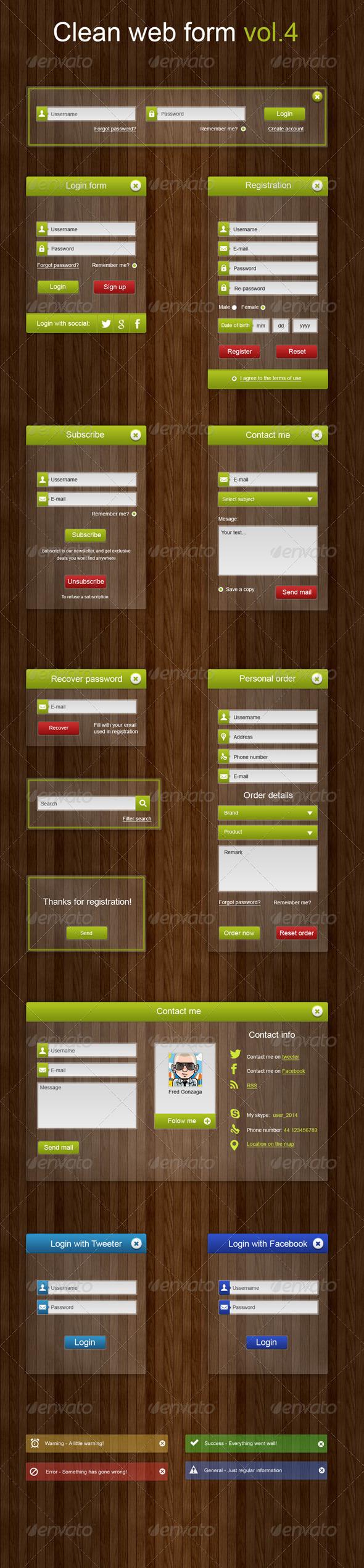 Clean Web Forms Vol.4 - Forms Web Elements