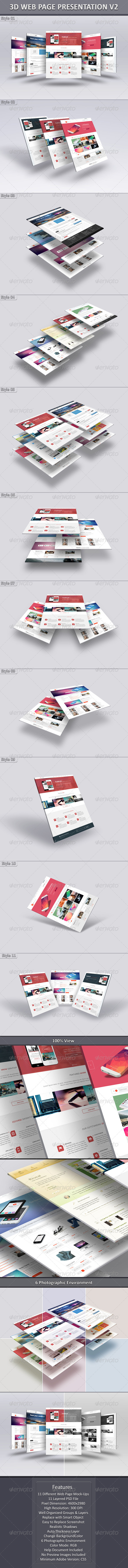 3D Web Page Presentation V2 - Website Displays