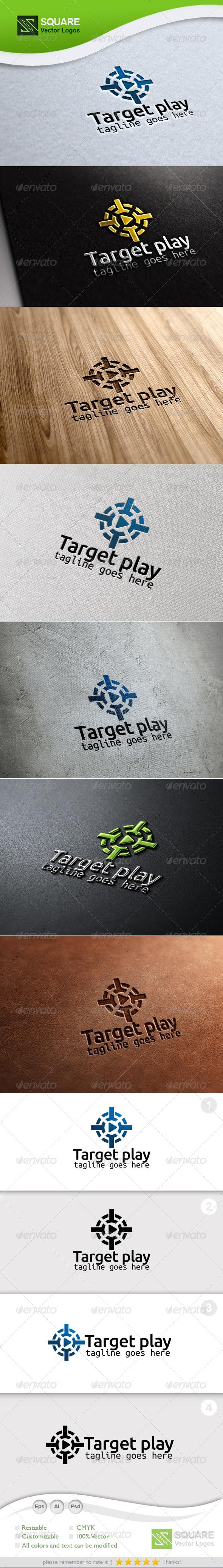 Target, Play Vector Logo Template - Symbols Logo Templates
