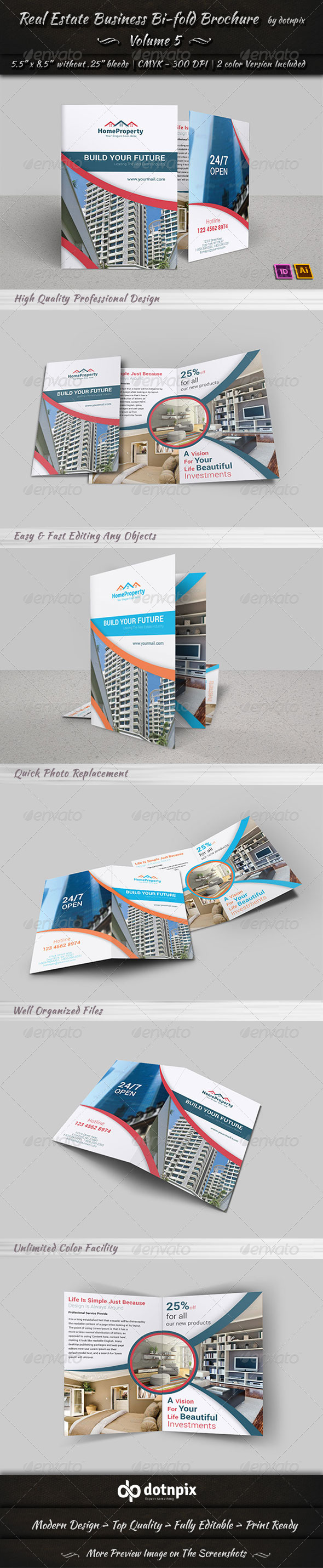 Real Estate Business  Bi-Fold Brochure | Volume 5 - Corporate Brochures