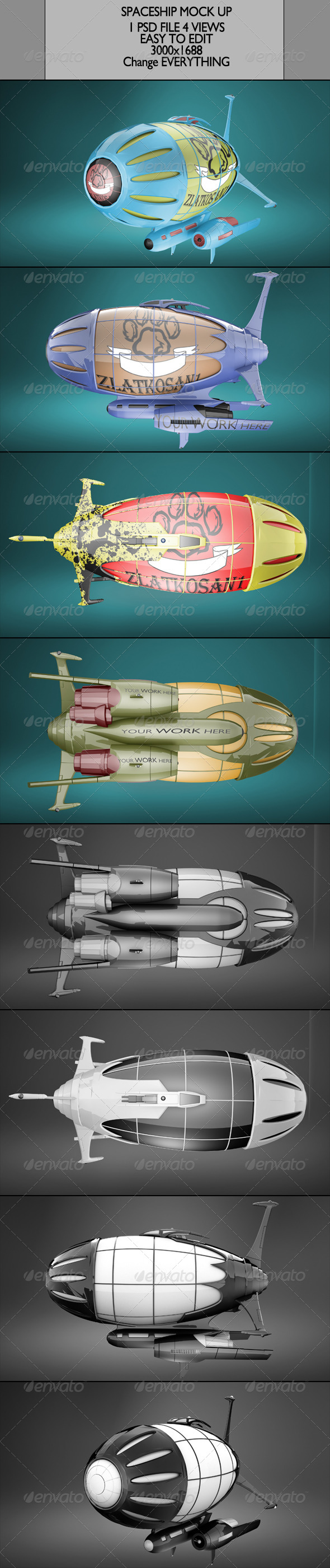 Spaceship Mock Up - Product Mock-Ups Graphics
