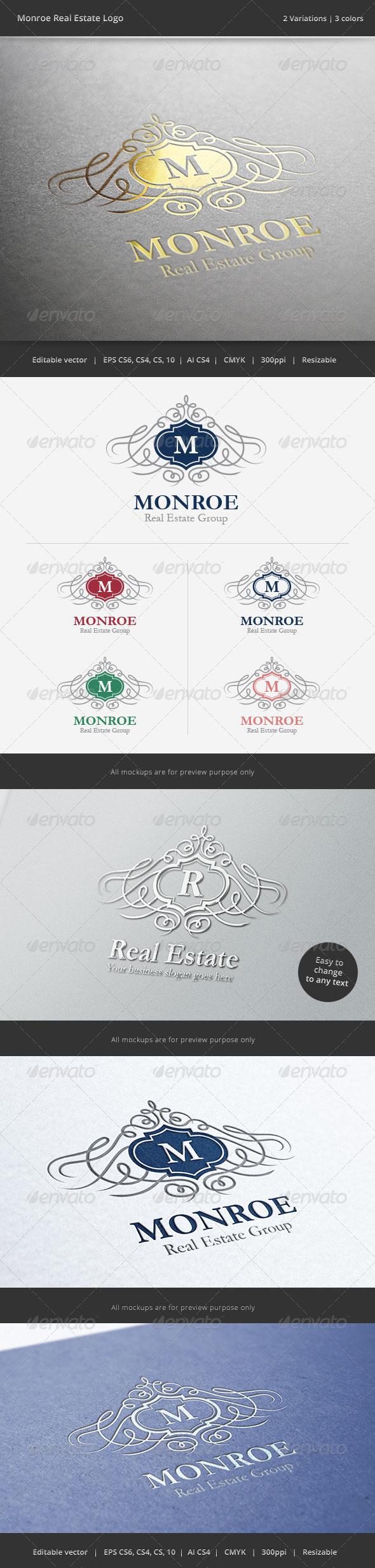 Monroe Letter Crest Logo - Crests Logo Templates