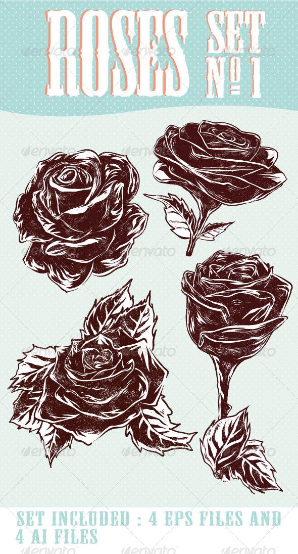 Roses Set Nr. 1 - Vectors