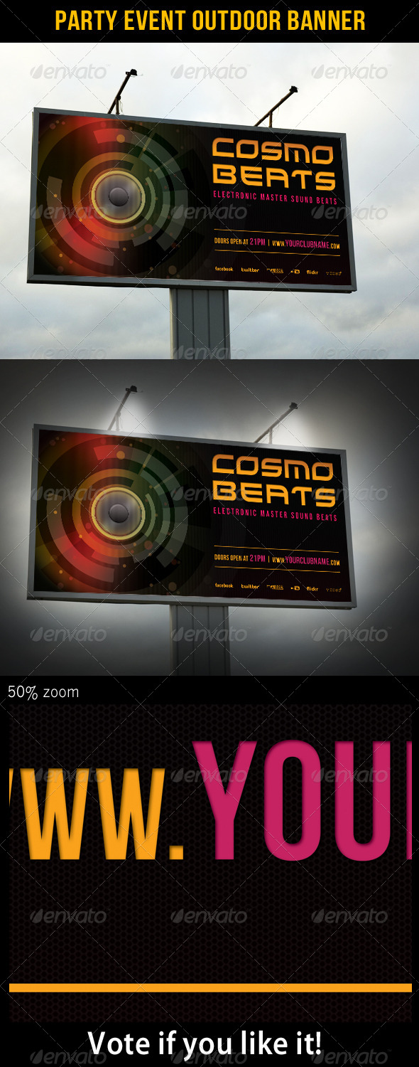 Party Event Outdoor Banner 01 - Signage Print Templates
