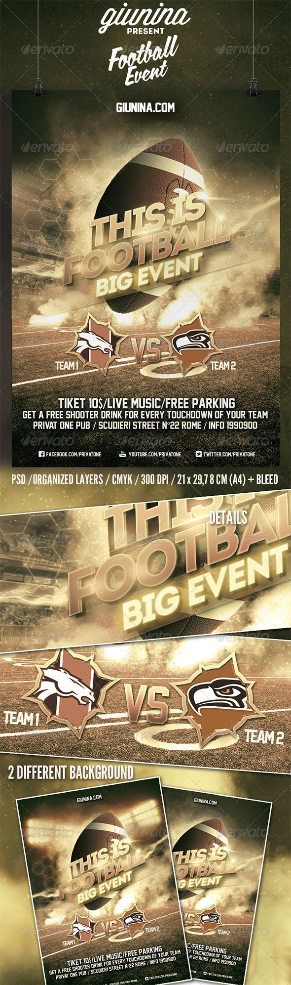 Football Event Flyer/Poster - Events Flyers