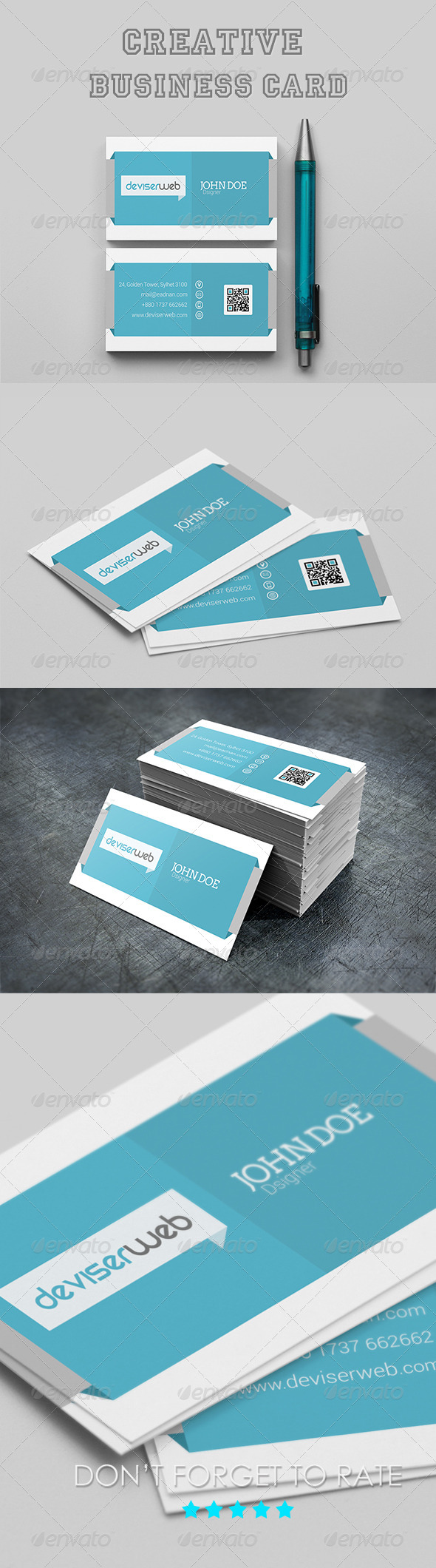 Creative Agency Business Card Template - Creative Business Cards