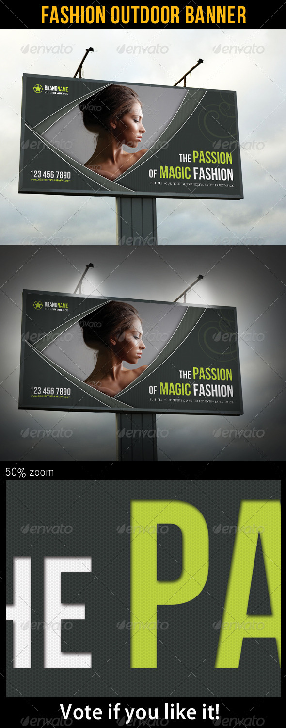 Fashion Outdoor Banner 18 - Signage Print Templates