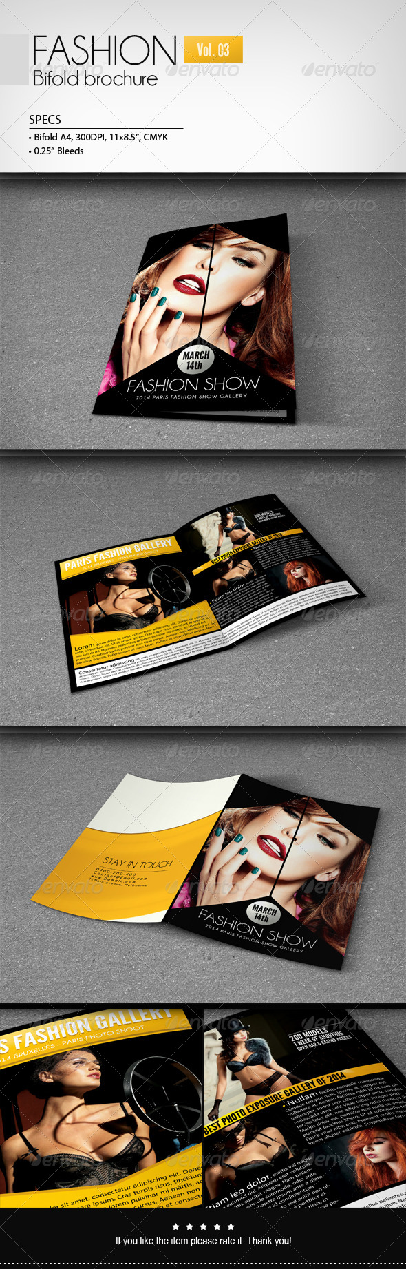 Fashion - Bifold Brochure [Vol.3] - Corporate Brochures