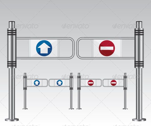 Entrance Sign in a Mall - Objects Vectors