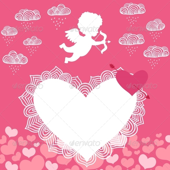 Valentines Day Angel with Bow Flyer - Valentines Seasons/Holidays