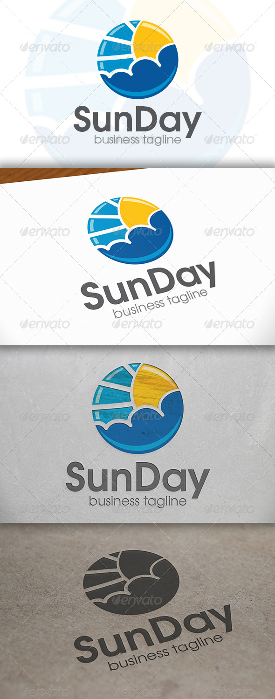 Sun Day Logo - Nature Logo Templates