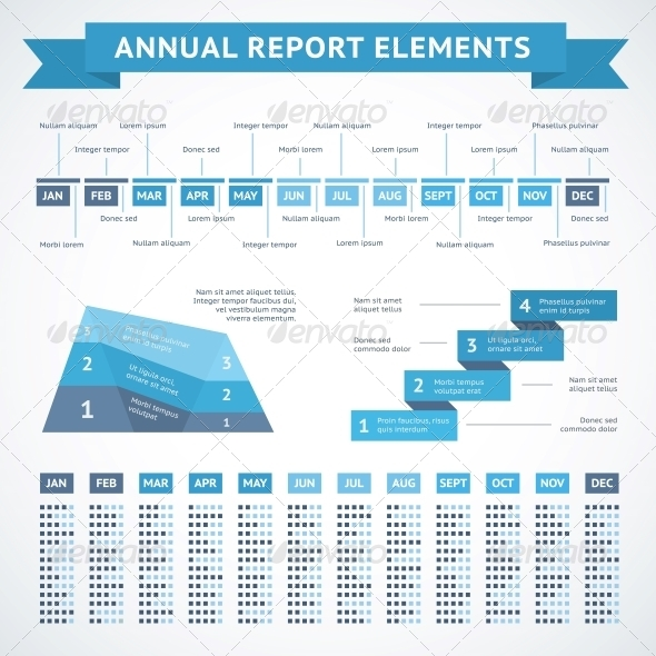 Presentation Infographics Charts for Finance - Web Elements Vectors