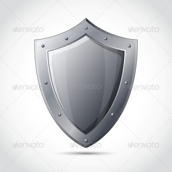 Blank Shield Business Protection Emblem - Concepts Business