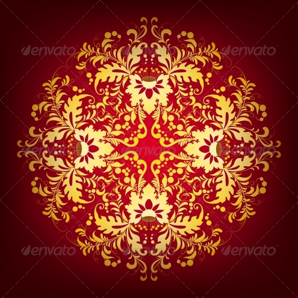 Elegant Background with Lace Ornament - Patterns Decorative