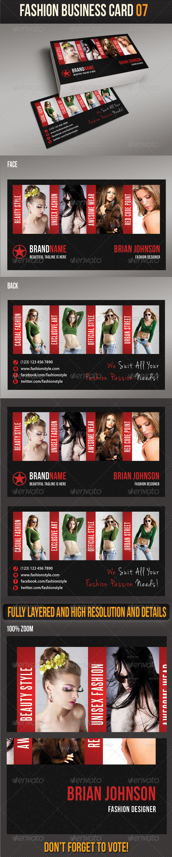 Fashion Business Card 07 - Creative Business Cards