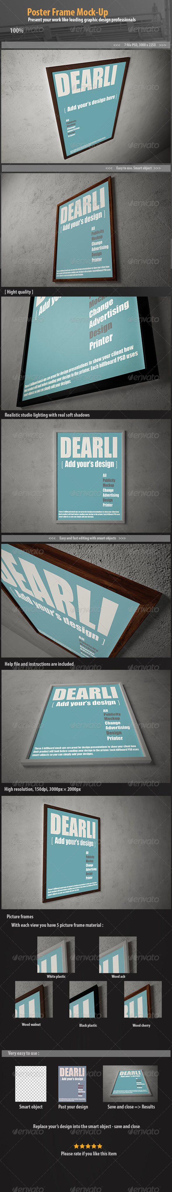 Poster Frame Mock-Up - Posters Print
