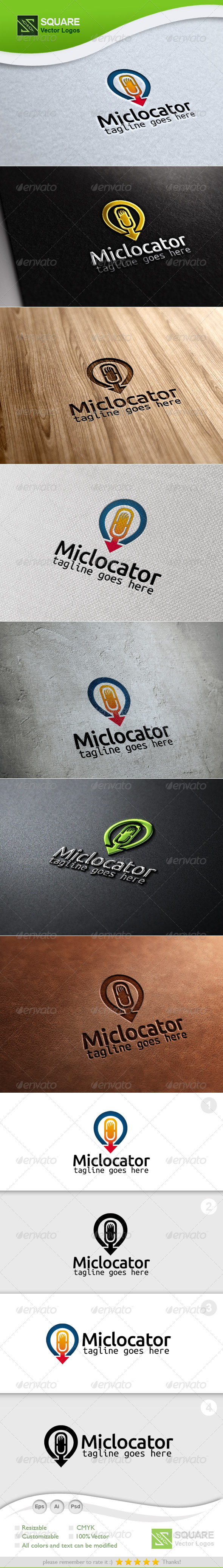Mic, Locator Vector Logo Template - Symbols Logo Templates