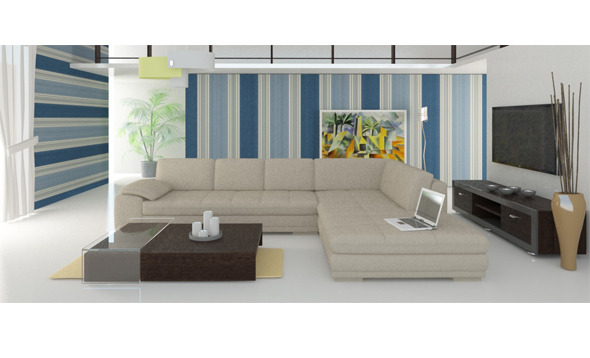 living room interior 3D - 3DOcean Item for Sale