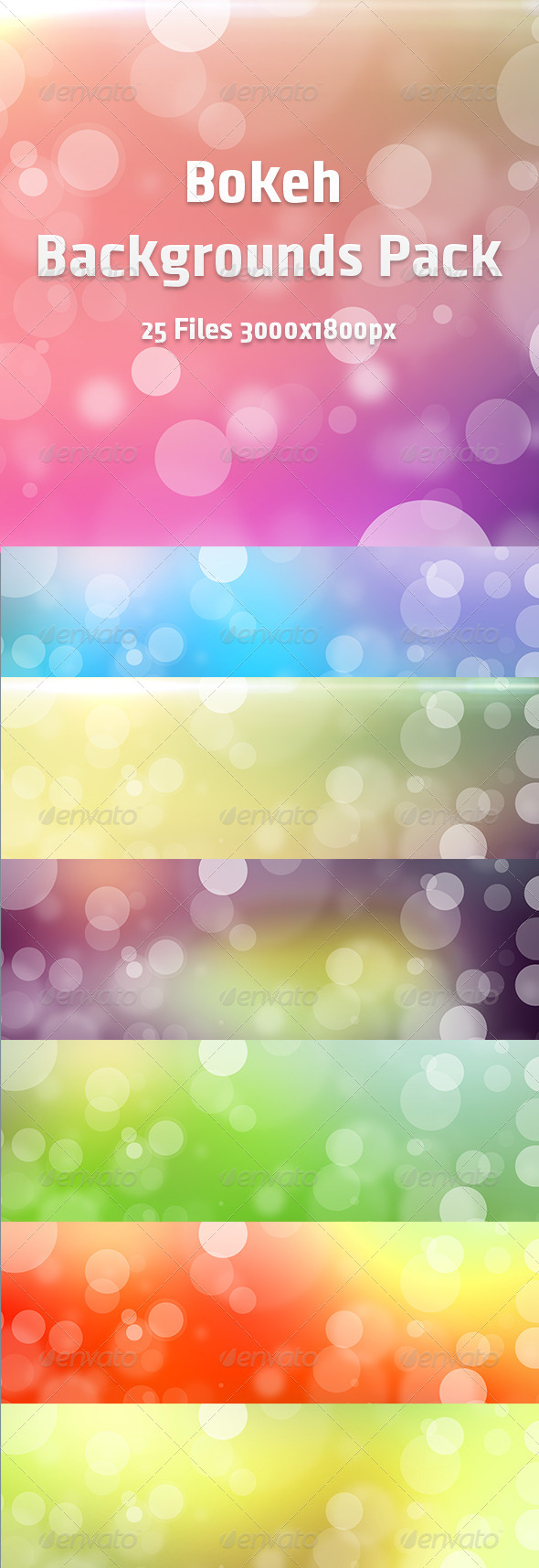 Bokeh Backgrounds Pack - Backgrounds Graphics