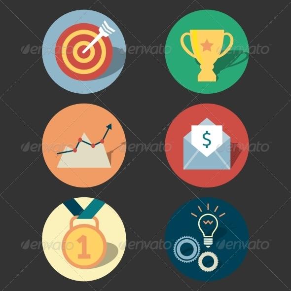 Success Concept Icons Set - Web Elements Vectors