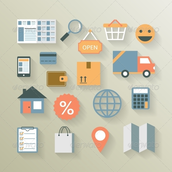 Interface Elements for Internet Ecommerce - Retail Commercial / Shopping