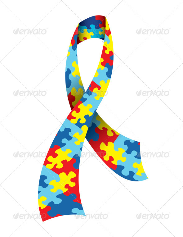 Autism Awareness Ribbon - Health/Medicine Conceptual