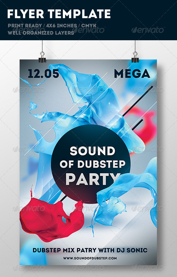 Party Flyer Print Template - Flyers Print Templates