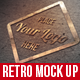 Retro Mock Up Logo - GraphicRiver Item for Sale