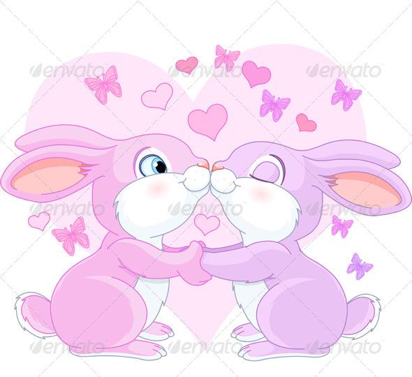 Valentine Rabbits - Valentines Seasons/Holidays